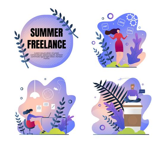 Set Work Poster is Written Summer Freelance Flat