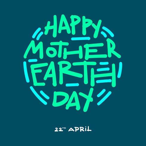 Happy Earth Day typografie