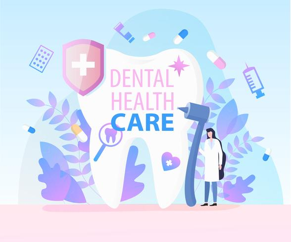 Vrouw Tandarts Medische apparatuur Tandheelkundige zorg vector