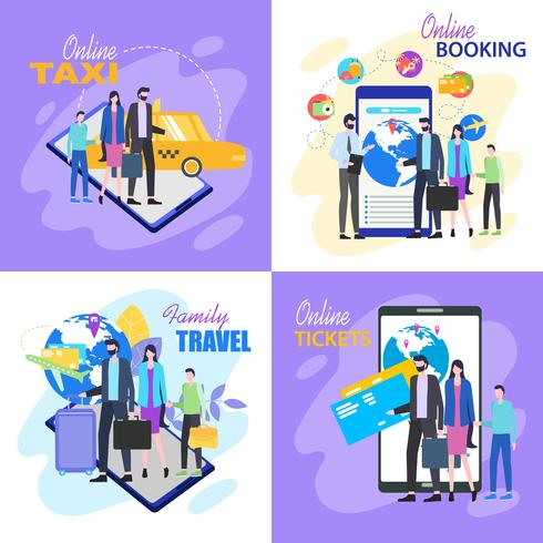 Family Travel Buy Ticket Online Taxi Hotel Booking