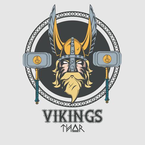 Vikingar krigare vektor