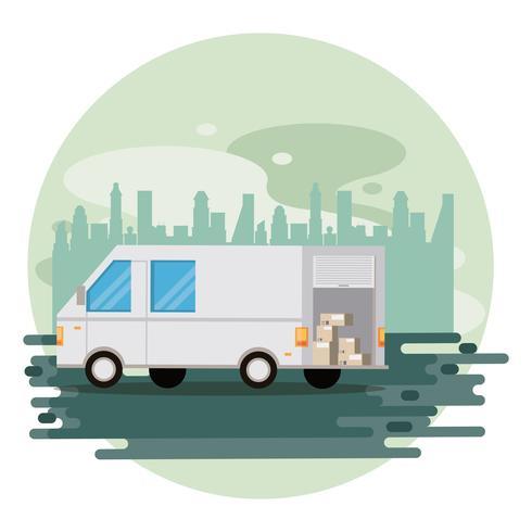 bestelwagen voor transportvoertuigen