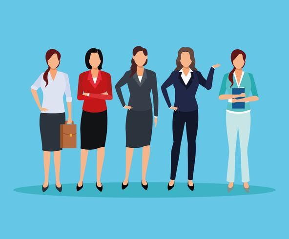 executive women cartoon vector
