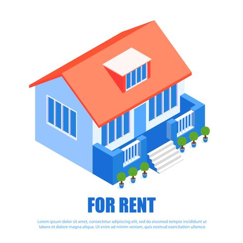 Lettering for Rent Isometric