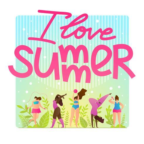 Sport Flyer Invitation I Love Summer