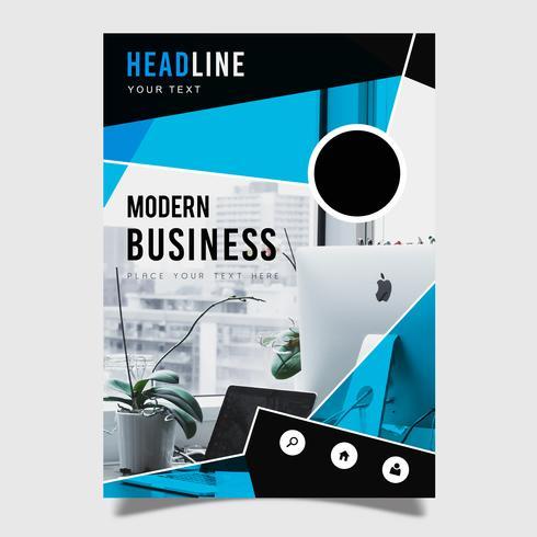 Moderne zakelijke brochure sjabloonontwerp