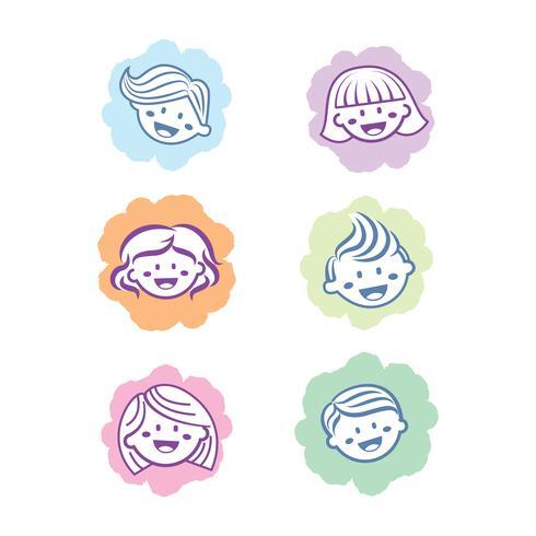 kinderen pictogram haar pictogram ontwerp