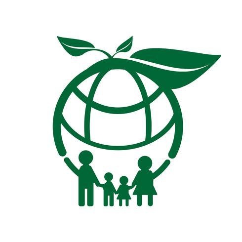 family ecology concept vector