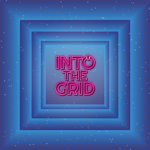 In The Grid Background vector