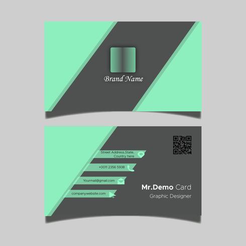 Conception de cartes de visite vecteur