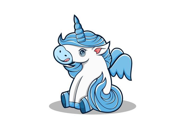 baby unicorn mascot vector