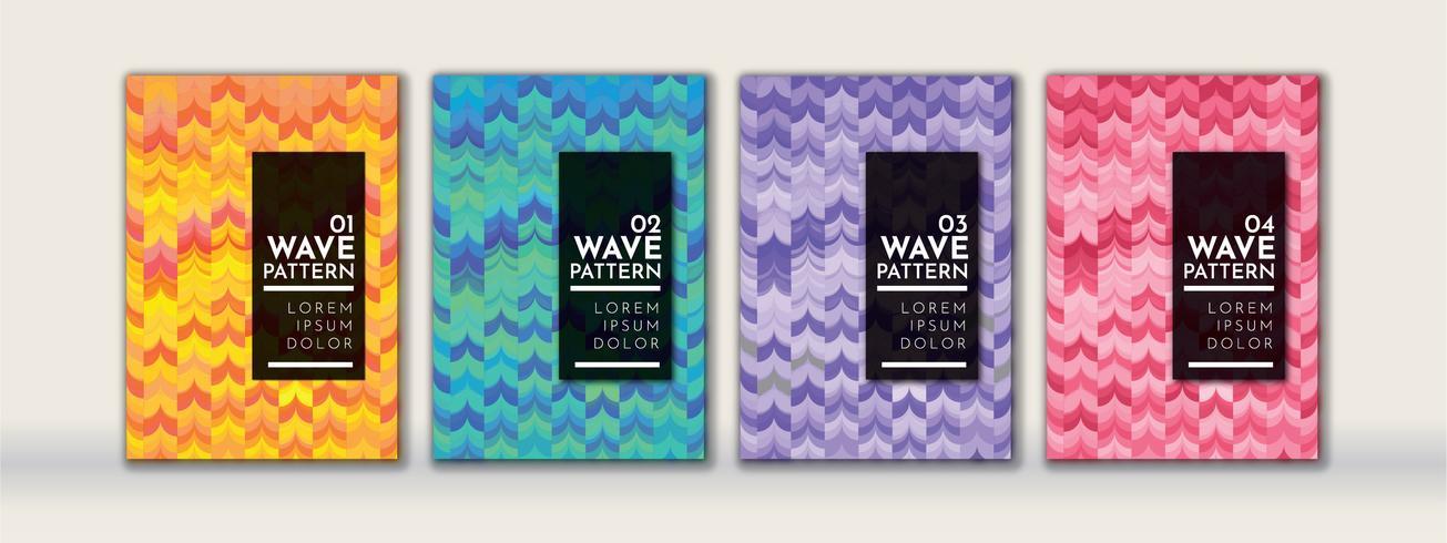 Abstrakt Wave bakgrundsmönster