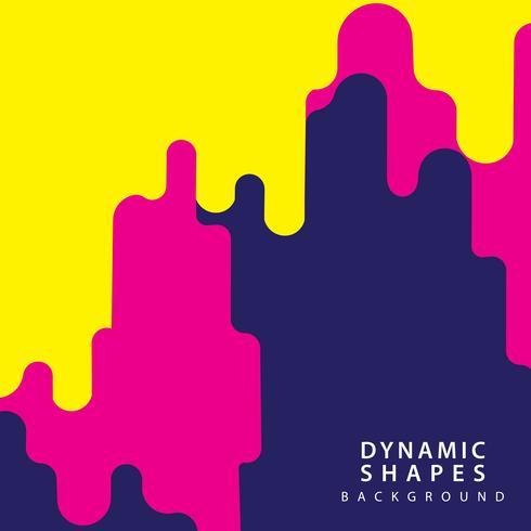 Fondo de estilo de formas dinámicas vector