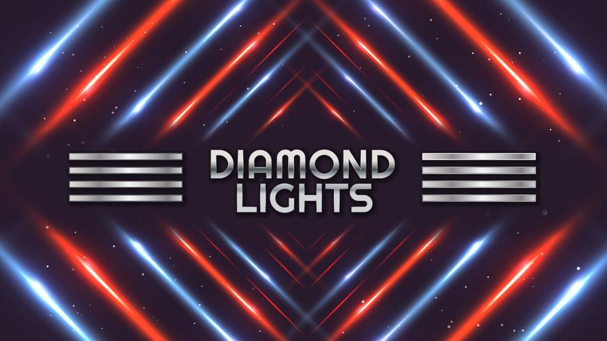 spettro di luci diamante sfondo vettore