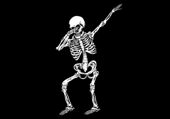 Dabbing esqueleto humano vector