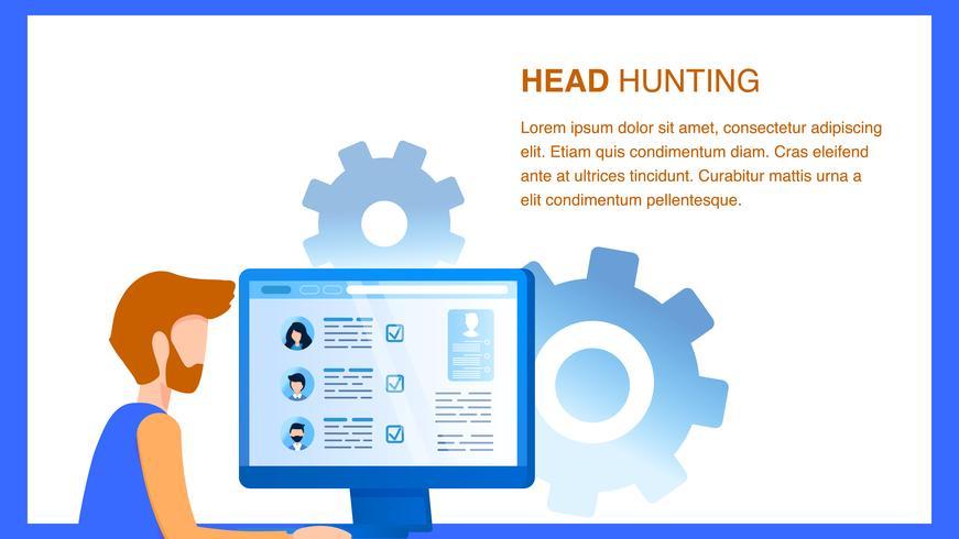 Human Resource Manager Rechercher un employé en ligne vecteur