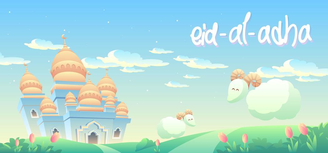 Eid Al Adha na manhã vetor