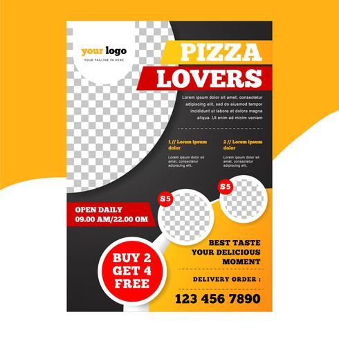 Moderne Pizzarestaurant Flyer Vorlage
