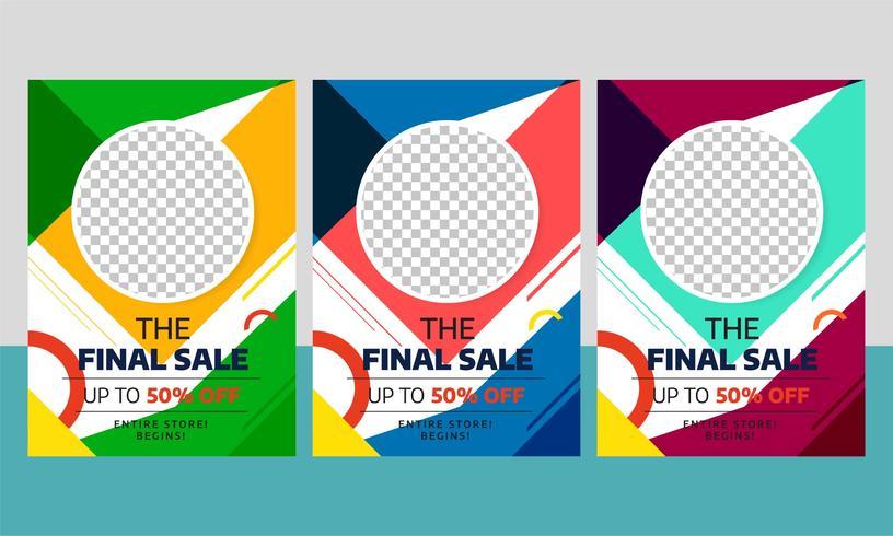Moderner Verkauf Flyer Template Design mit unterschiedlicher Farbe