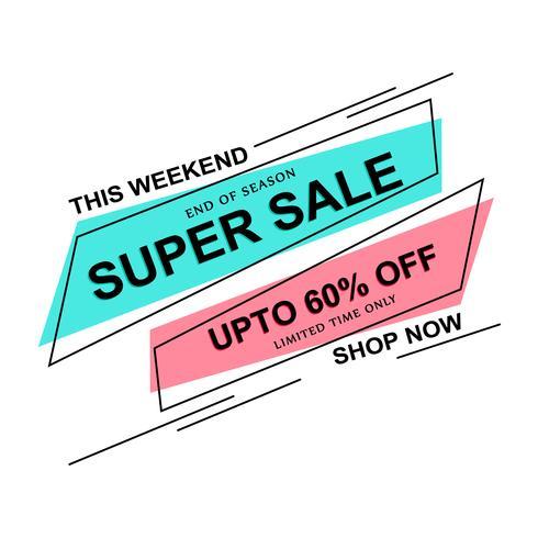 Kleurrijke Super Sale-sjabloon vector