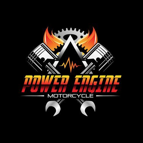 Icona di simbolo di progettazione del motore automobilistico di potenza antincendio vettore