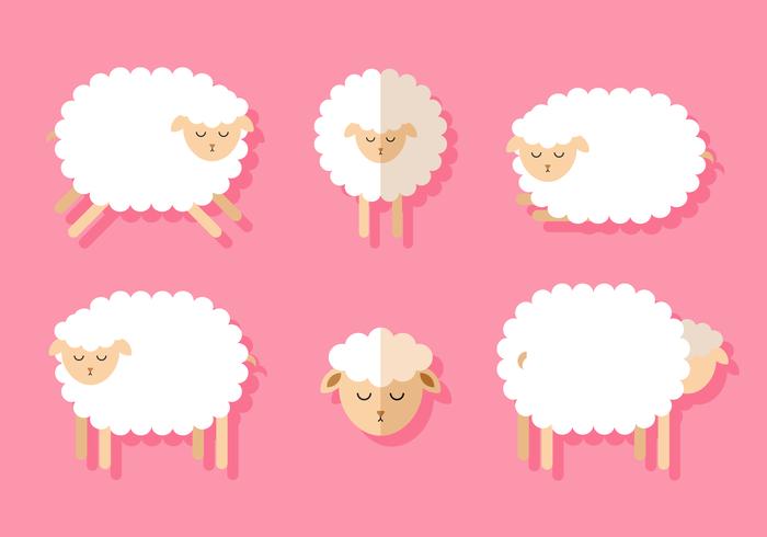 Set di pecore vettoriali