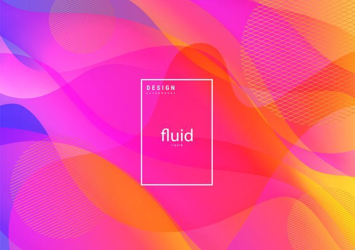 Fluid abstract liquid background vector