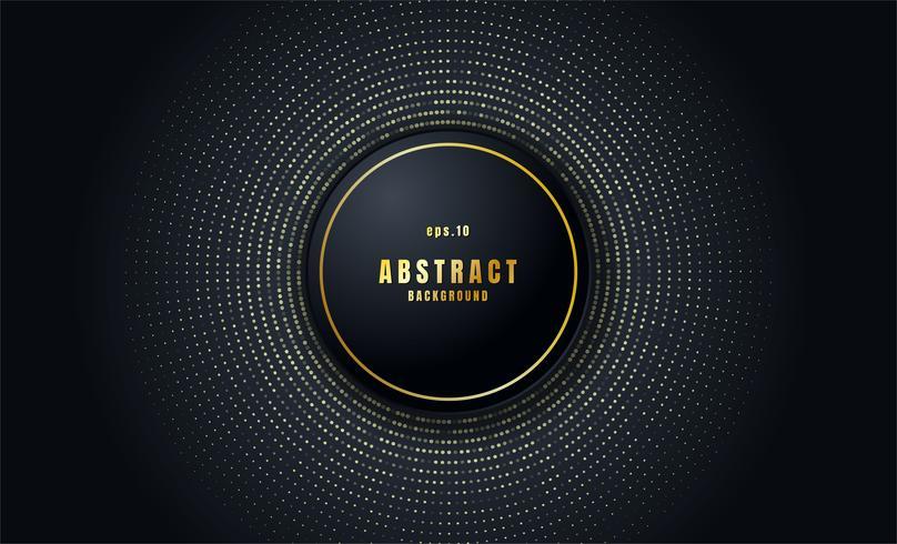 Fondo abstracto negro realista vector