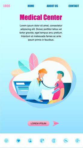 Mannelijke arts onderzoekt patiënt online