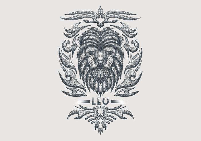 Vintage Leo Sternzeichen
