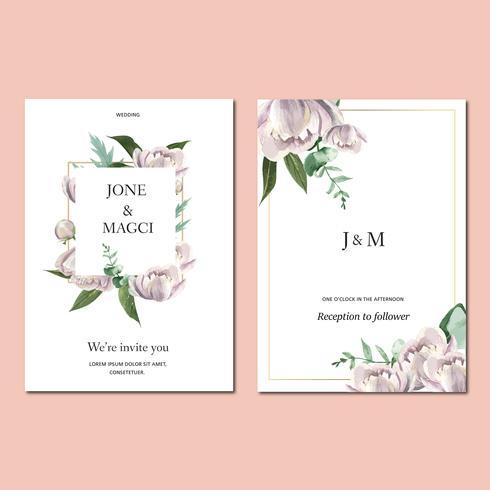 Tarjeta de invitación de primavera con arce floral y hojas vector