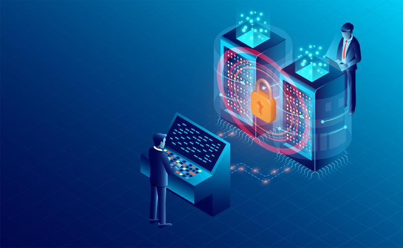 Seguridad de datos vector