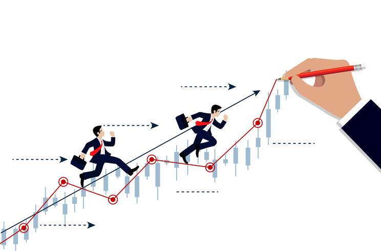 Competencia de empresarios vector