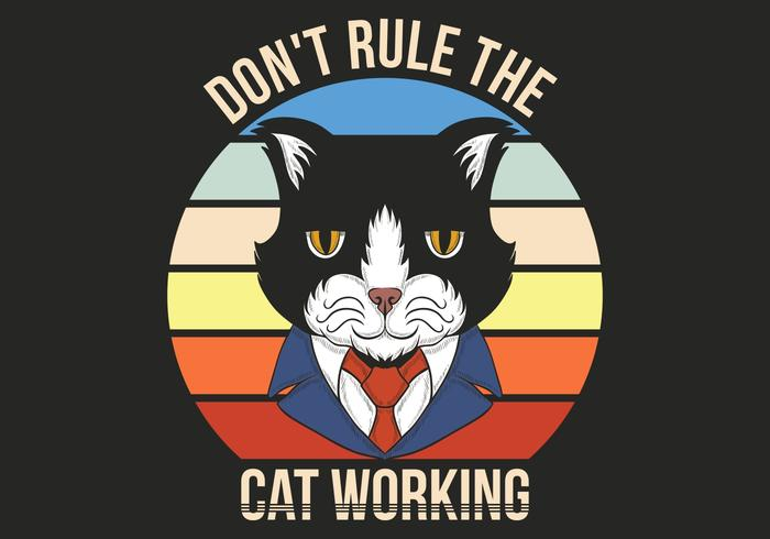 Retro Katze im Anzug