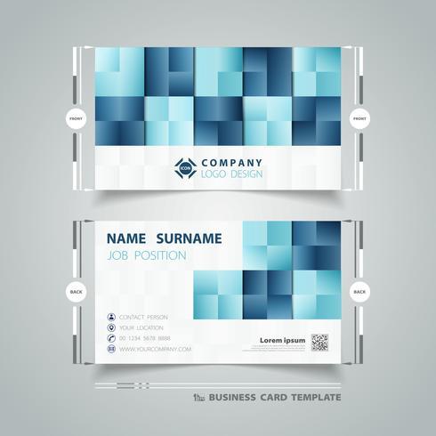 Quadratische blaue Muster-Visitenkarte