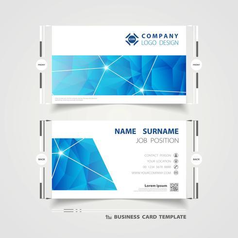 Tarjeta de visita corporativa de tecnología azul vector