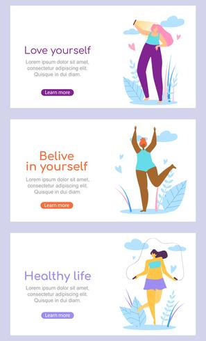 Schöner Mädchencharaktere-gesunder aktiver Lebensstil