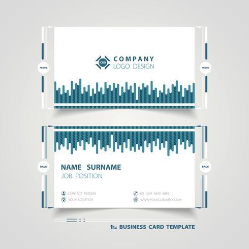 Blaue Linie Technologie-Visitenkarte