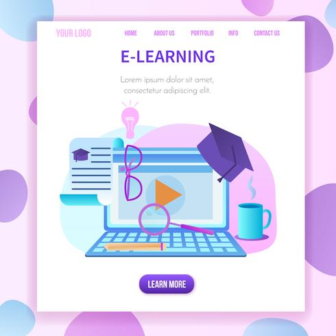 banner quadrato, copia spazio laptop webinar finestra