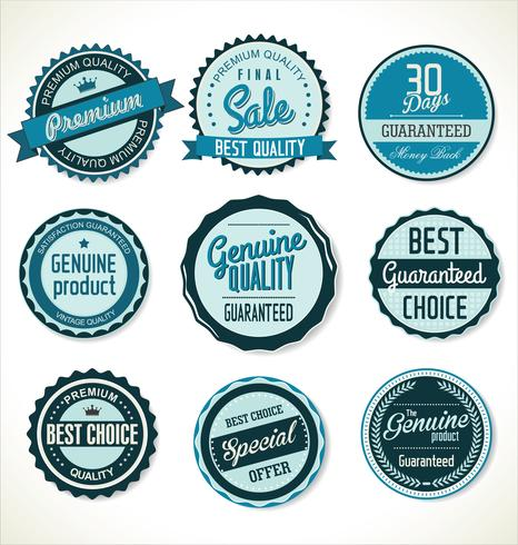 Retro vintage badges and labels collection vector
