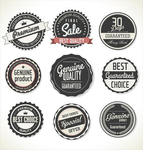 Colección retro de insignias y etiquetas vintage vector