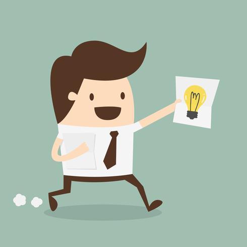 Businessman showing he has an idea vector