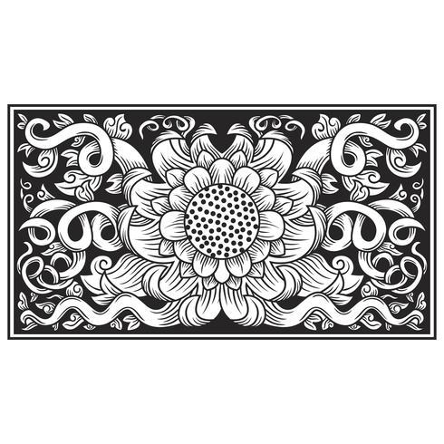 vetor de ilustração de flor openwork esculpida
