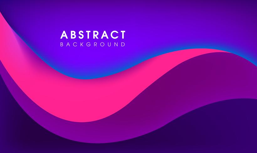 Abstract multi color wave background.