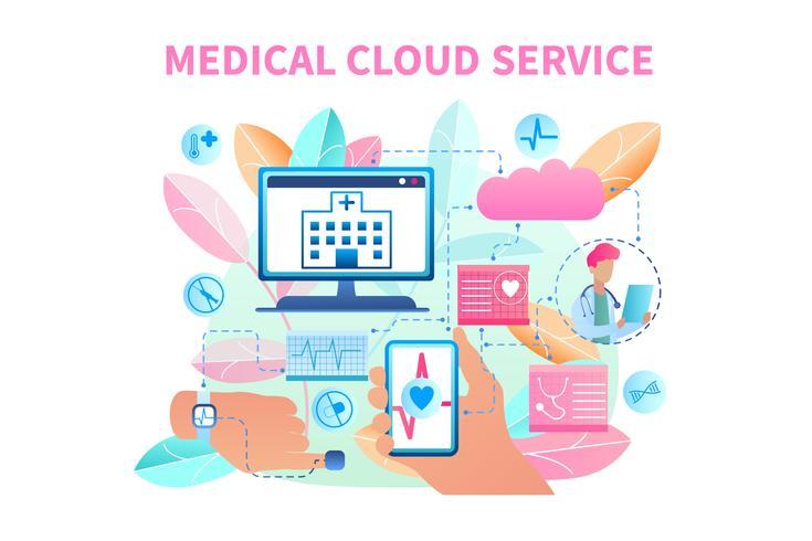 Banner Medical Cloud Service System vector