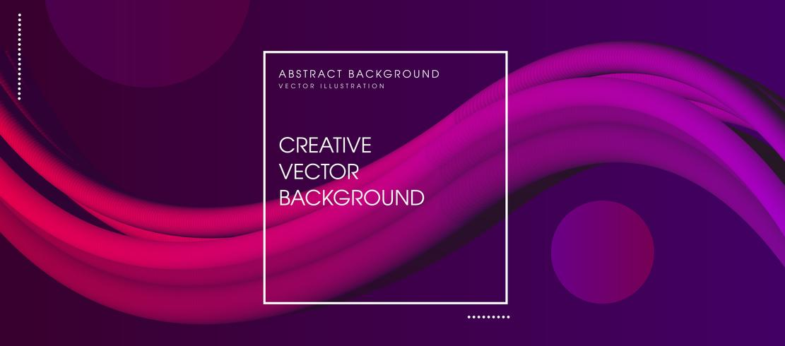 Futuristic Abstract Background. 3d Fluid Shape Illustration vector