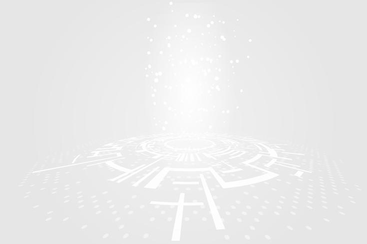 Grey white Abstract technology Circles background vector