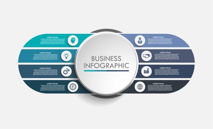 Infografía de datos comerciales vector