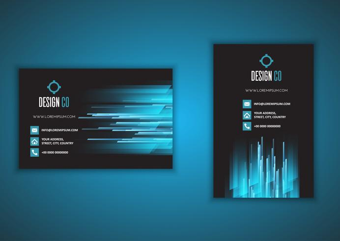 Business Card With Portrait And Landscape Design Free