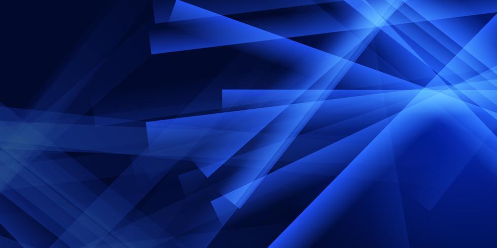 Diseño de banner azul abstracto vector